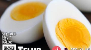 kalori telur rebus
